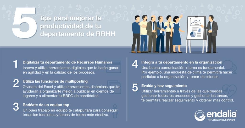 5 tips para mejorar la productividad de tu departamento de RRHH