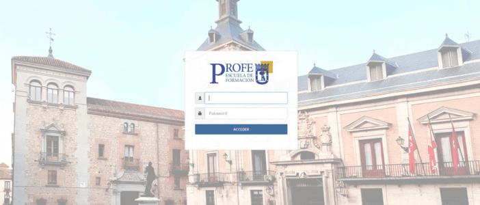 Acceso al Portal PROFE de formación by Endalia del Ayuntamiento de Madrid